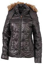 James & Nicholson Jacke Ladies Padded Winter Jacket, Giacca Donna, Nero (Black), XX-Large (Taglia Produttore: XX-Large)