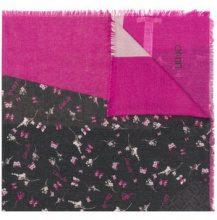 - Liu Jo - frayed hem printed scarf - women - fibra sintetica - Taglia Unica - di colore viola