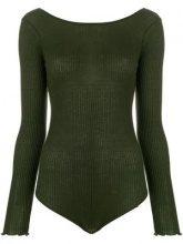 - Faith Connexion - Body con scollo sul retro - women - cotone - S, M - di colore verde