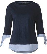 Cecil 312208, T-Shirt Donna, (Deep Blue 10128), S