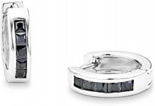 Amor 925 argento Quadratschliff nero Zirconia cubica