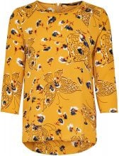 ONLY Loose 3/4 Sleeved Top Women Yellow