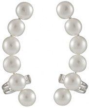 Bella Pearls Donna 925 argento Rotonda Bottone perla cinesa da coltivazione bianco Perla