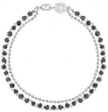 Dower & Hall Donna 925 Argento Ronde nero Spinello FINENECKLACEBRACELETANKLET