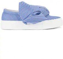 - Joshua Sanders - bow wide stripe sneakers - women - Rubber/Leather/Cotone - 39, 36, 40, 37, 38 - Blu