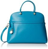 Furla 809116 Piper Medium Dome Borsa a Secchiello, Pelle, Turchese, 29 cm
