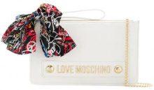 - Love Moschino - branded scarf clutch - women - Polyurethane - Taglia Unica - Bianco