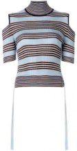 - Fendi - striped cold - shoulder top - women - Silk/Polyamide/Polyester - 42 - Multicolore