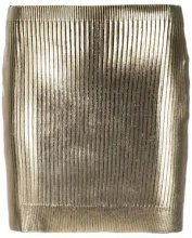 - Saint Laurent - metallic coated mini skirt - women - Spandex/Elastane/viscose - M - Metallizzato