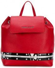 - Versace Jeans - star stripe backpack - women - fibra sintetica - Taglia Unica - di colore rosso