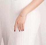 PNJ Cam-Bracciale da donna, in argento Sterling, placcati oro rosa 18 k, lunghezza: 18 cm + 4 cm di estensione_spediti in una lussuosa confezione regalo