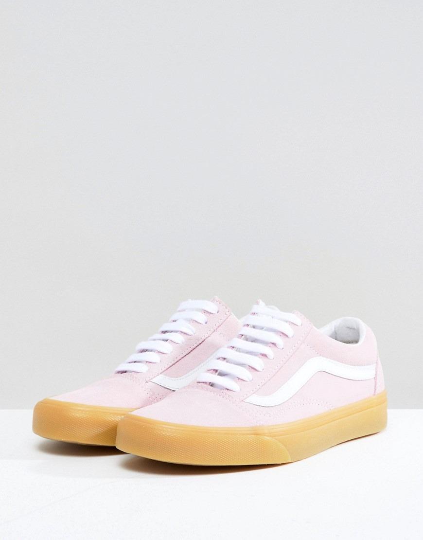 vans rosa pastello