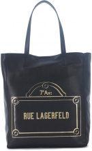 Shopper Karl Lagerfeld Rue Lagerfeld in pelle nera