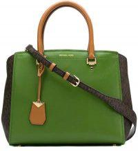- Michael Michael Kors - Benning large satchel bag - women - pelle - Taglia Unica - di colore verde
