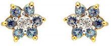 Bijoux pour tous - Orecchini a lobo da donna con topazio blu, oro giallo 9k (375), cod. 181E0019-38/9