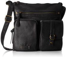 Tamaris Tatiana Crossbody Bag M - Borse a tracolla Donna, Schwarz (Black), 14x25x37 cm (B x H T)