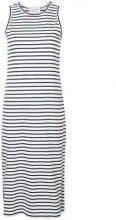 - Derek Lam 10 Crosby - Striped Tank Dress with Placket Hem Detail - women - Spandex/Elastane/Cotone/Polyester - M, XS, L, S - Bianco
