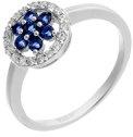 Orphelia dreambase-anello in argento 925 rodiato con zirconi blu brillante (18,5) - taglia 58 ZR-7047/58