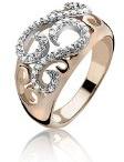 Orphelia donna-anello in argento placcato oro con zirconi bianco brillante misura (15,9) - 50 ZR-3894/50