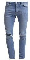 STRETCH SKINNY MID WASH RIPPED - Jeans Skinny Fit - mid blue