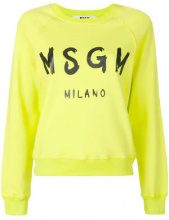 - MSGM - Felpa con logo - women - cotone - S - di colore giallo