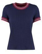 T-shirt con stampa - dark blue/pink