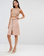 River Island - Gonna longuette con cintura
