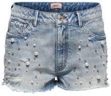 ONLY Divine Pearls Denim Shorts Women Blue