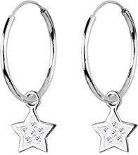 Elli 0305412011 - Orecchini a cerchio da donna con cristallo Swarovski, argento sterling 925