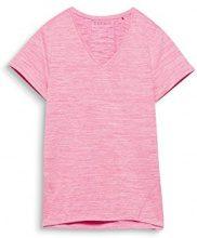 ESPRIT Sports 018ei1k005-e-Dry Logo, Top Sportivo Donna, Rosa (Pink Fuchsia 2 661), 40 (Taglia Produttore: X-Small)