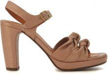 Sandalo con tacco Chie Mihara Champan in pelle nude