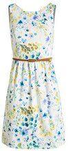 ESPRIT Collection - aus Baumwolle, Vestito Donna, Multicolore (OFF WHITE 2 111), L (Taglia Produttore: 44)