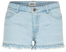 ONLY Carmen Reg Frill Denim Shorts Women Blue