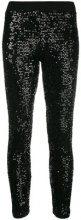 - P.A.R.O.S.H. - sequined leggings - women - fibra sintetica - XS, S, M, L - di colore nero