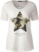Street One 311454, T-Shirt Donna, Bianco (off White 30108), 44 (Taglia Produttore: 38)