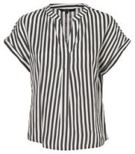 VERO MODA Striped Short Sleeved Top Women Black