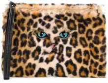 - Vivetta - leopard print clutch - women - pelle/fibra sintetica - Taglia Unica - color carne