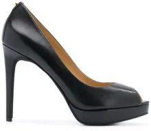 - Michael Michael Kors - Erika peep toe pumps - women - pelle/gomma - 6, 9,5, 10, 7, 11, 8, 8,5, 9 - di colore nero