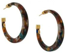 - Gas Bijoux - Caftan hoop earrings - women - acetato/metallo placcato in oro 24kt - Taglia Unica - color marrone