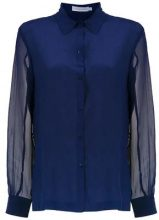 - Mara Mac - silk shirt - women - seta - 44 - di colore blu
