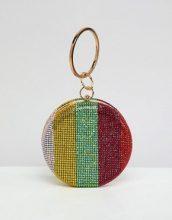 Pochette con gemme arcobaleno