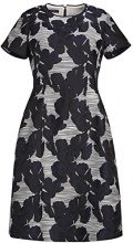 APART Fashion Kleid, Vestito Donna, Nero (winterweiß-Tintenblau), 44