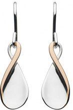 Kit Heath-Orecchini pendenti a petalo attorcigliato, in argento sterling, argento, colore: oro rosa, cod. 60PTRG