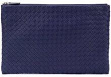 - Bottega Veneta - Intrecciato clutch bag - women - Leather - Taglia Unica - Blu