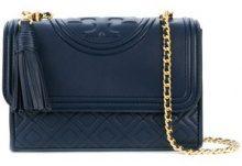 - Tory Burch - Fleming small convertible shoulder bag - women - Leather - Taglia Unica - Blu