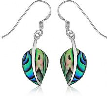 Ornami Donna 925 argento Ovale multicolore Abalone FINEEARRING