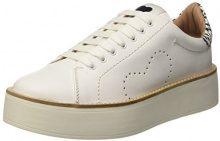 Twin Set CS7PJ1, Sneaker a Collo Basso Donna, Multicolore (Bianco Seta/Nero), 41 EU