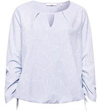 edc by Esprit 068cc1f009, Camicia Donna, Blu (Light Blue 440), Small