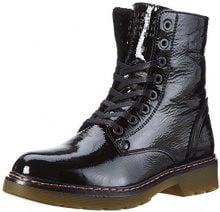 Bullboxer Lace-up Boots, Stivali Militari Donna, Nero (Black), 37 EU
