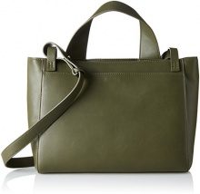 French Connection Clean Minimalism Rosalyn Bag - Borse a tracolla Donna, Mehrfarbig (Dsty Olive/shny Slvr), 10x26x38 cm (B x H T)